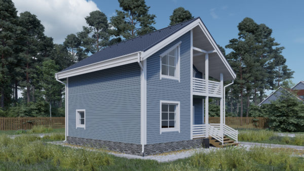 Проект каркасного дома №9