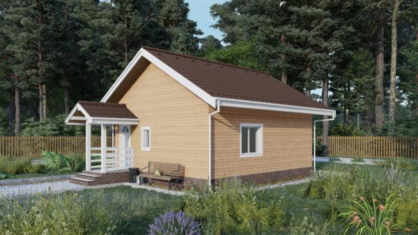 Проект каркасного дома №10