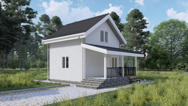 Проект каркасного дома №14
