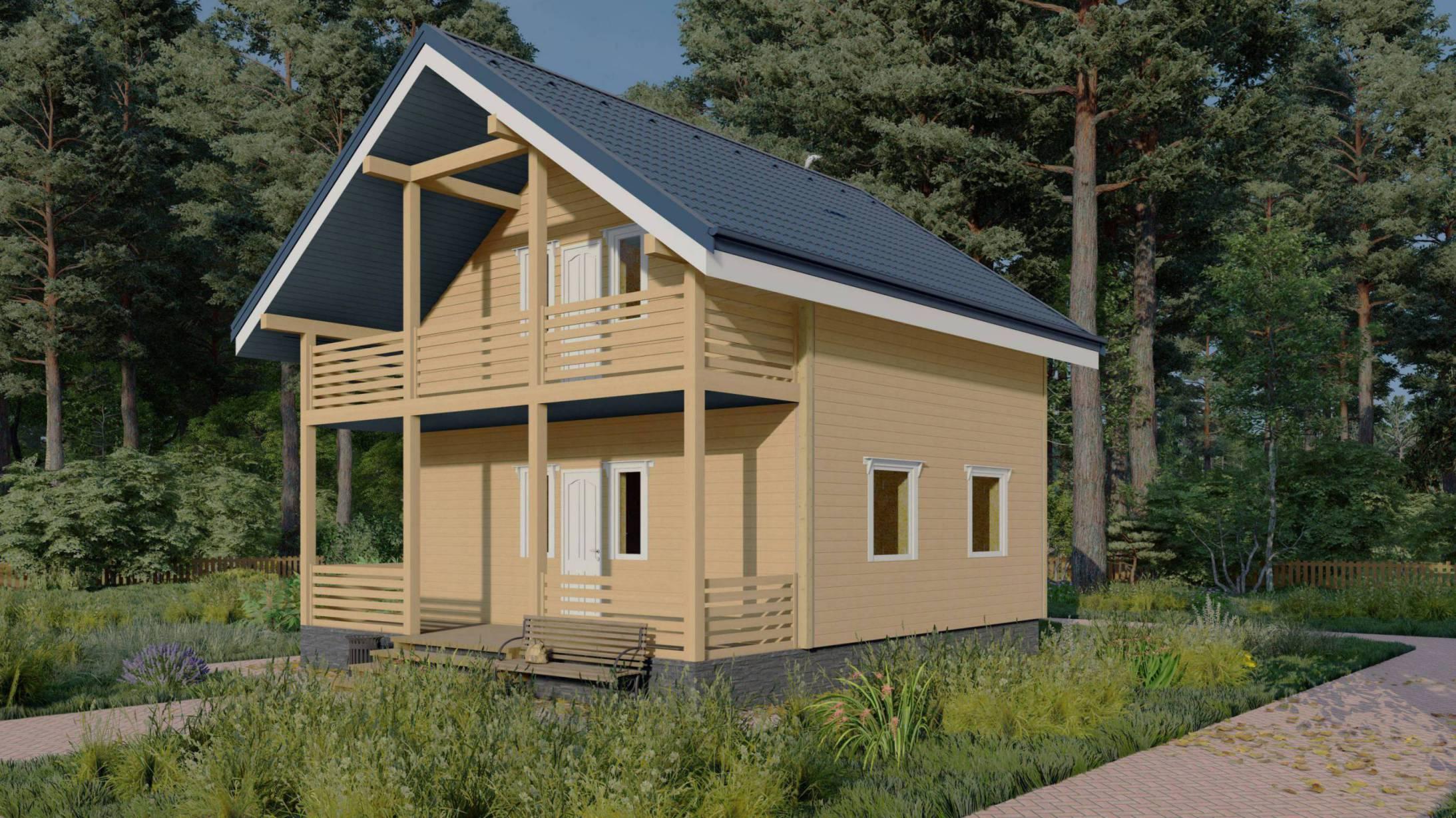 Проект каркасного дома №2