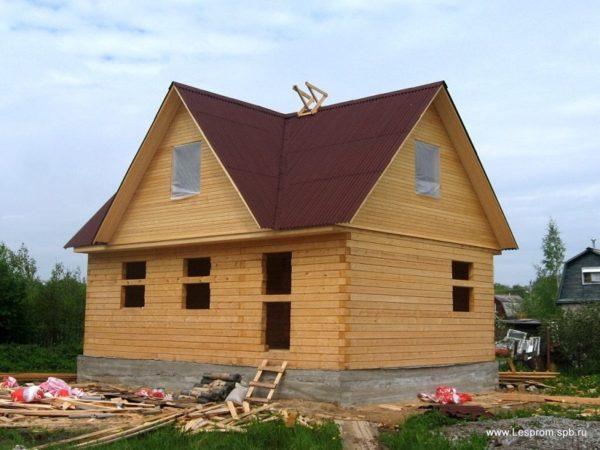 Дом 7,5 – 8,5 брус 140-14 профилированный