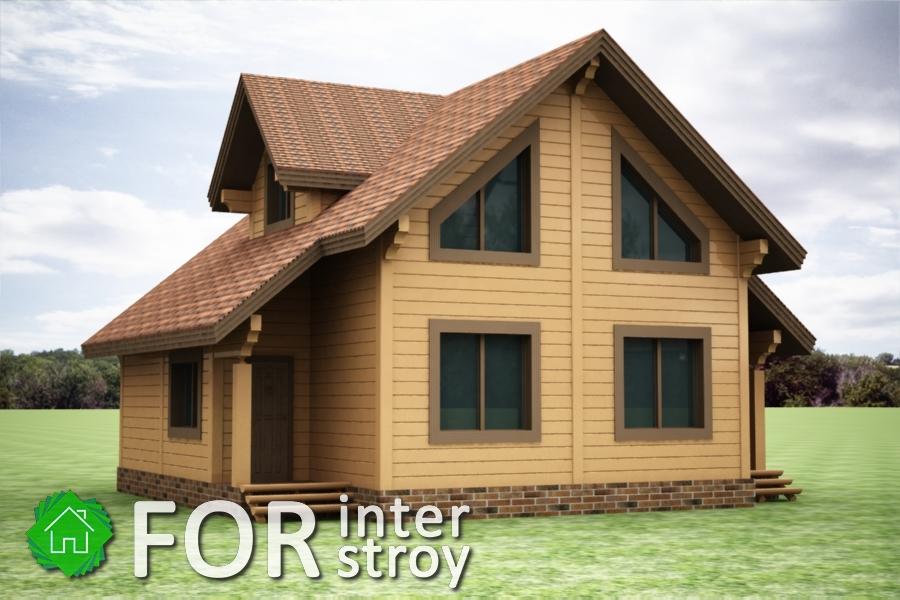 Проект дома в стык №1