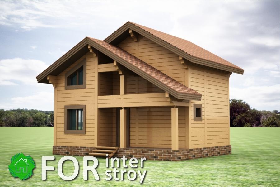 Проект дома в стык №2