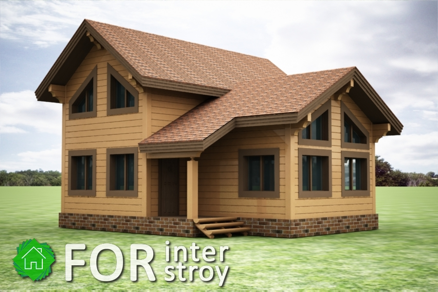 Проект дома в стык №3