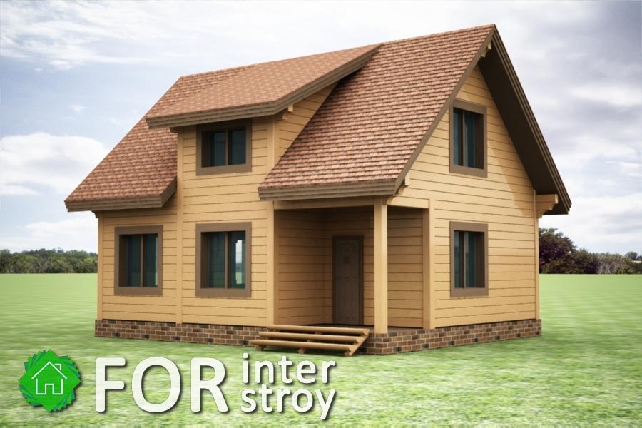 Проект дома в стык №4