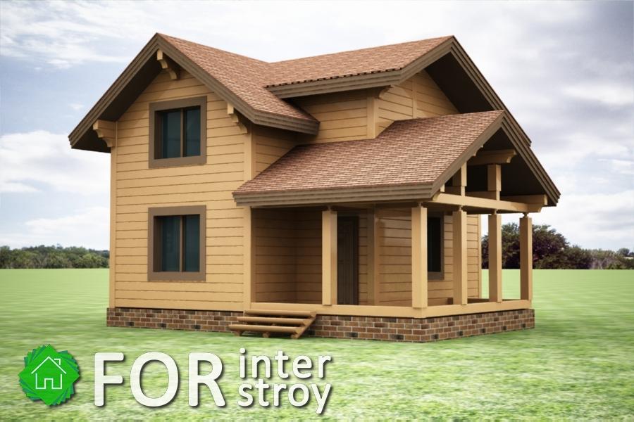Проект дома в стык №5