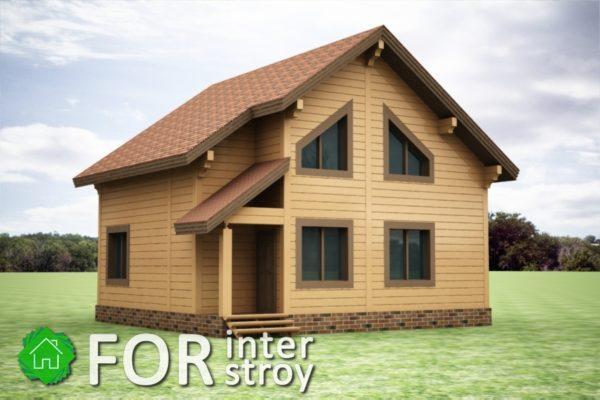 Проект дома в стык №8
