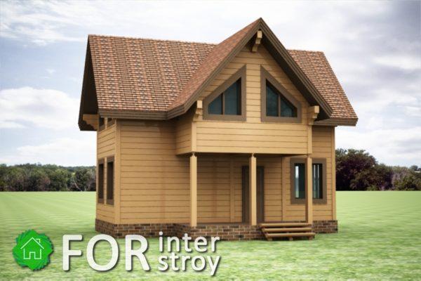 Проект дома в стык №10