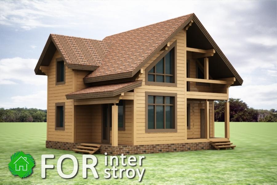 Проект дома в стык №11