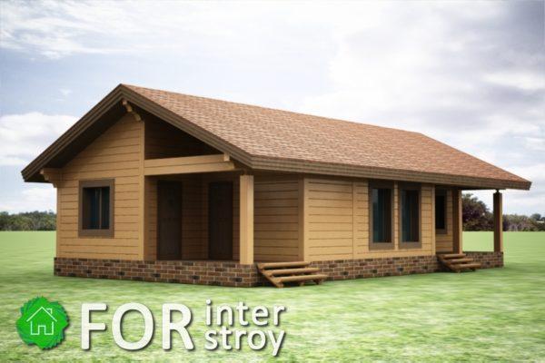 Проект дома в стык №13