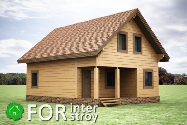 Проект дома в стык №14