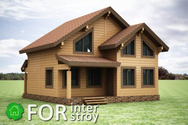 Проект дома в стык №16