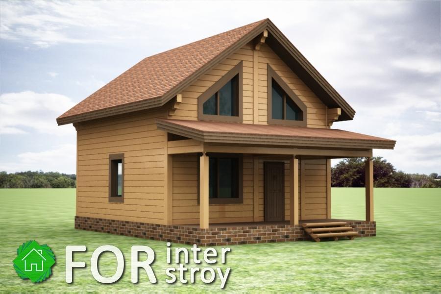 Проект дома в стык №18