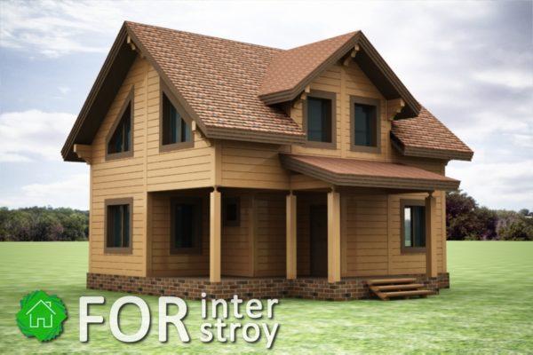 Проект дома в стык №20