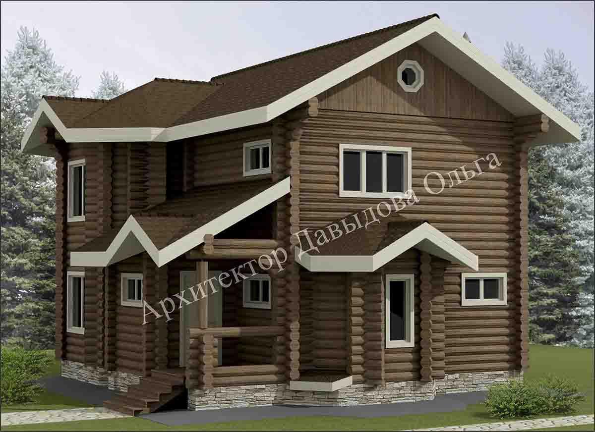 Дизайн проект дома из бревна в Томске