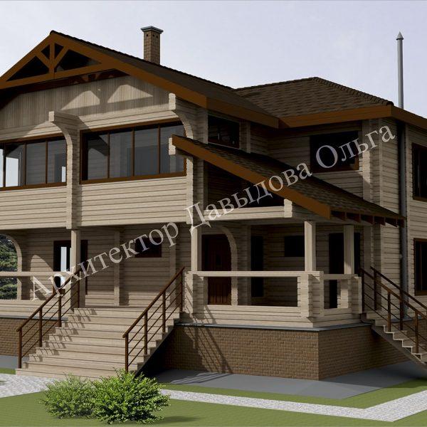 Дизайн проект дома из бруса в Томске