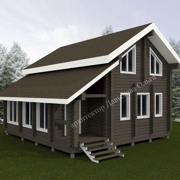 Дизайн проект дома из бруса Томск