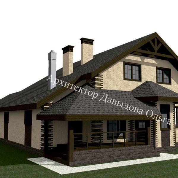 Дизайн проект кирпичного дома в Томске