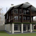 Дизайн проект комплекса строений из бруса