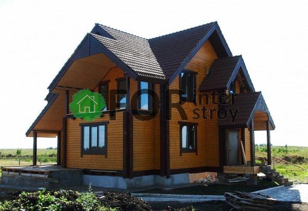 Дом из бруса в Томске, поселок Светлый.