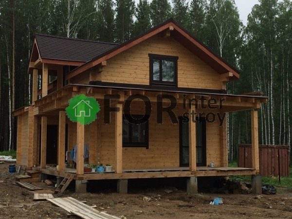 Дом из бруса под ключ, поселок Кисловка.