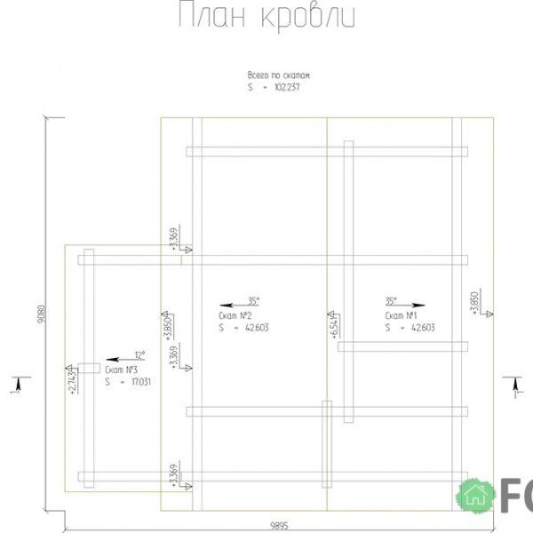 Проект бани в Томске 90 м2
