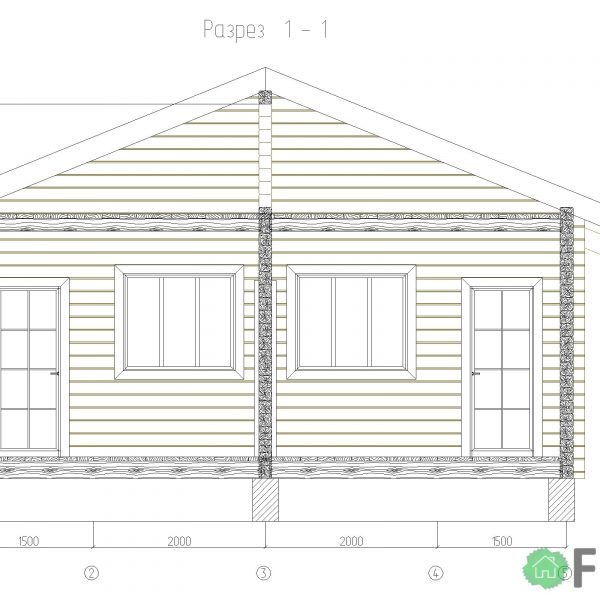 Проект под строительство дома 34 м2