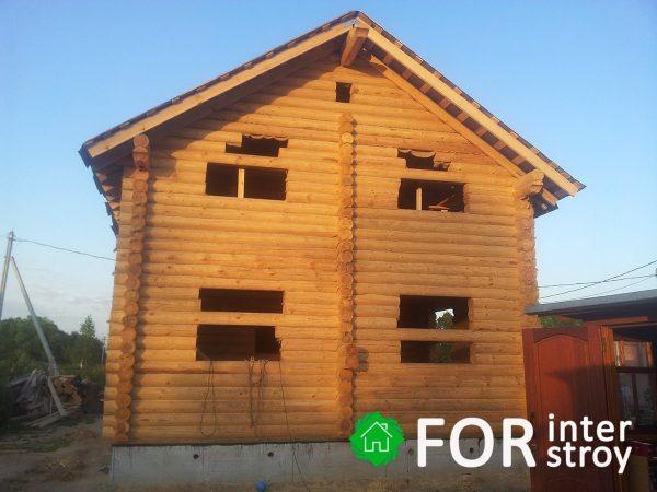 Дом из оцилиндрованного бревна Томск