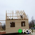 Каркасный дом с мансардой 6х6